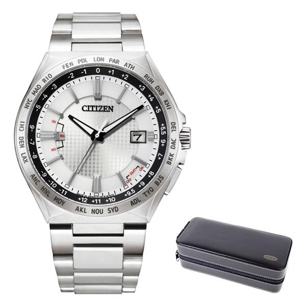 (時計ケースセット)(シチズン)CITIZEN 腕時計 CB0210-54A (アテッサ)ATTESA メンズ ACT Line エコドライブ ダイレクトフライト チタンバンド 電波ソーラー アナログ(国内正規品)