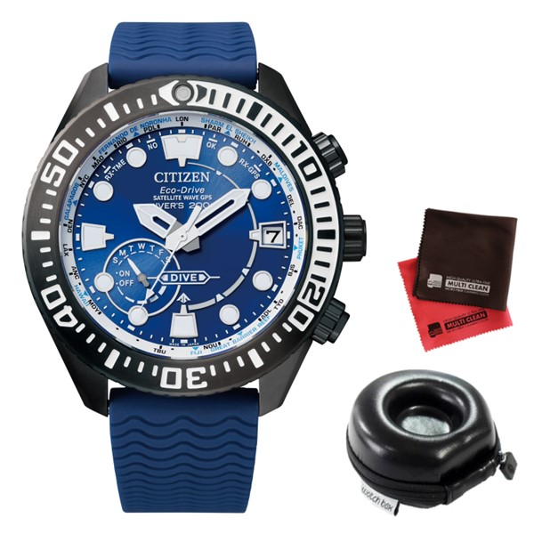 (時計ケース丸型・クロスセット)(シチズン)CITIZEN 腕時計 CC5006-06L (プロマスター)PROMASTER メンズ MARINEシリーズ ダイバー200m 樹脂バンド GPS電波ソーラー 多針アナログ(国内正規品)(7月新商品)