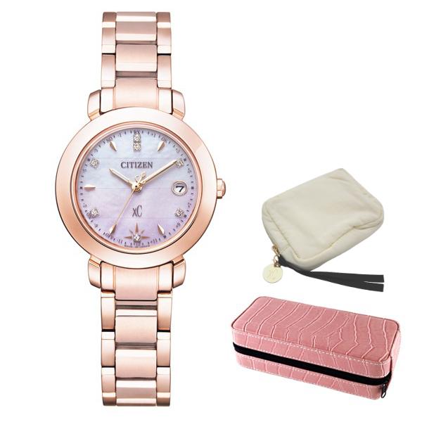 ※xCポーチ付 (時計ケースセット) (シチズン) CITIZEN 腕時計 ES9444-50Y (クロスシー)xC レディース エコドライブ ティタニア ハッピーフライト 限定モデル チタンバンド 電波ソーラー アナログ(国内正規品)