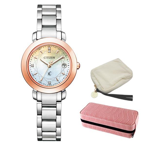 ※xCポーチ付 (時計ケースセット) (シチズン) CITIZEN 腕時計 ES9446-54X (クロスシー)xC レディース エコドライブ ティタニア ハッピーフライト 限定モデル チタンバンド 電波ソーラー アナログ(国内正規品)
