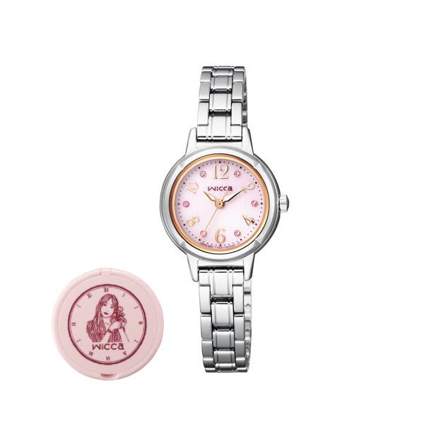 (wiccaコンパクトミラー付きセット)(シチズン)CITIZEN 腕時計 KH9-914-93 (ウィッカ)wicca レディース ソーラーテック スワロフスキー KH991493 (国内正規品) itabamoe