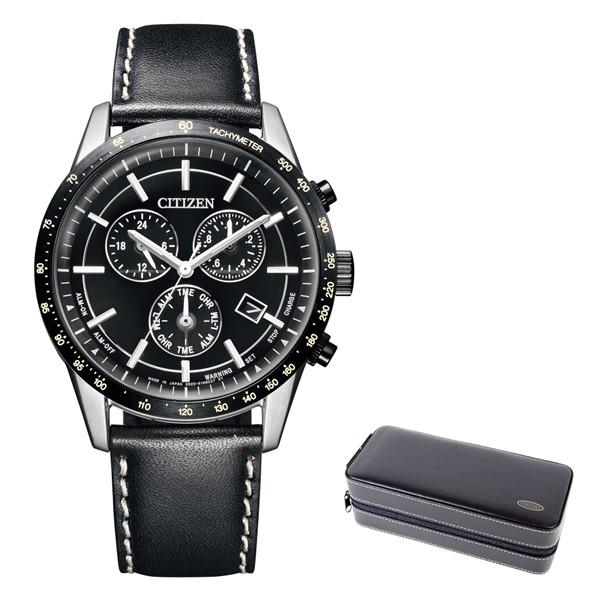 (時計ケースセット)(シチズン)CITIZEN 腕時計 BL5496-11E シチズンコレクション メンズ エコドライブ クロノグラフ 牛革バンド ソーラー 多針アナログ(国内正規品)