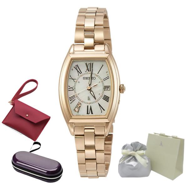 (ショッピングバック 時計ケース 販促25thLUKIAパスケース付) (国内正規品) (セイコー) SEIKO 腕時計 SSQW046 LUKIA ( ルキア ) レディース( トノー チタンバンド 電波ソーラー アナログ )