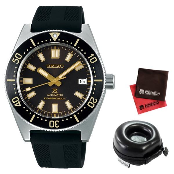 (時計ケース丸型・クロスセット)(セイコー)SEIKO 腕時計 SBDC105 (プロスペックス)PROSPEX メンズ 国産ファーストダイバーズ 現代デザイン コアショップ専用 シリコンバンド 自動巻き(手巻付) アナログ(国内正規品)