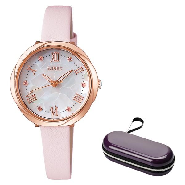 (時計ケースセット)(セイコー)SEIKO 腕時計 AGEK462 (ワイアードエフ)WIREDf レディース 牛革バンド クオーツ アナログ(国内正規品)