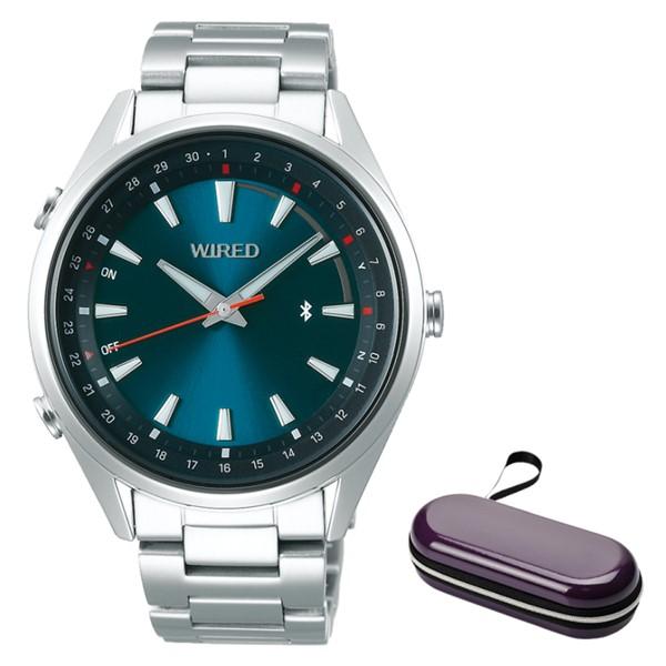 (時計ケースセット)(セイコー)SEIKO 腕時計 AGAB410 (ワイアード)WIRED メンズ TOKYO SORA Bluetooth搭載 ステンレスバンド クオーツ アナログ(国内正規品)