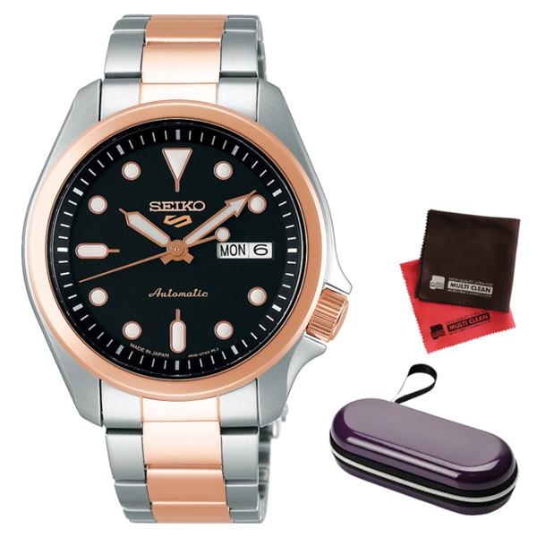 (時計ケース・クロスセット)(セイコー)SEIKO 腕時計 SBSA048 (5スポーツ)SEIKO 5 SPORTS メンズ メカニカル Sports ソリッドボーイ 流通限定モデル ステンレスバンド 自動巻き(手巻付) アナログ(国内正規品)