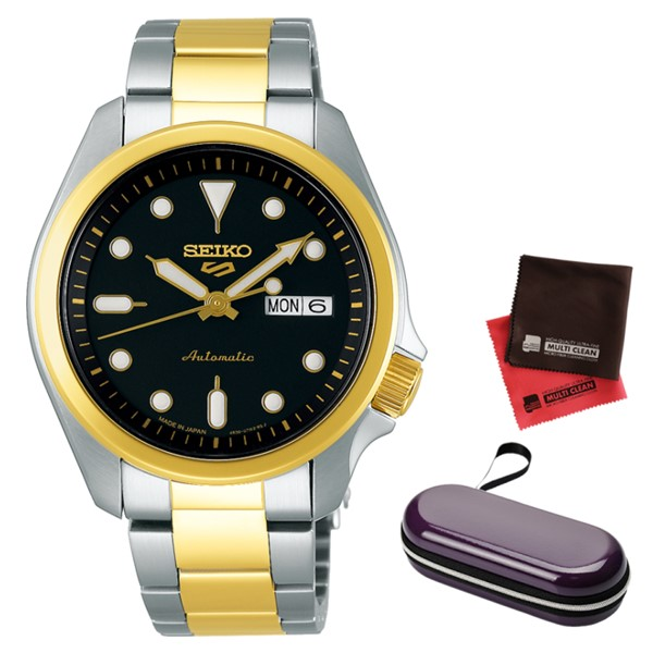 (時計ケース・クロスセット)(セイコー)SEIKO 腕時計 SBSA050 (5スポーツ)SEIKO 5 SPORTS メンズ メカニカル Sports ソリッドボーイ 流通限定モデル ステンレスバンド 自動巻き(手巻付) アナログ(国内正規品)