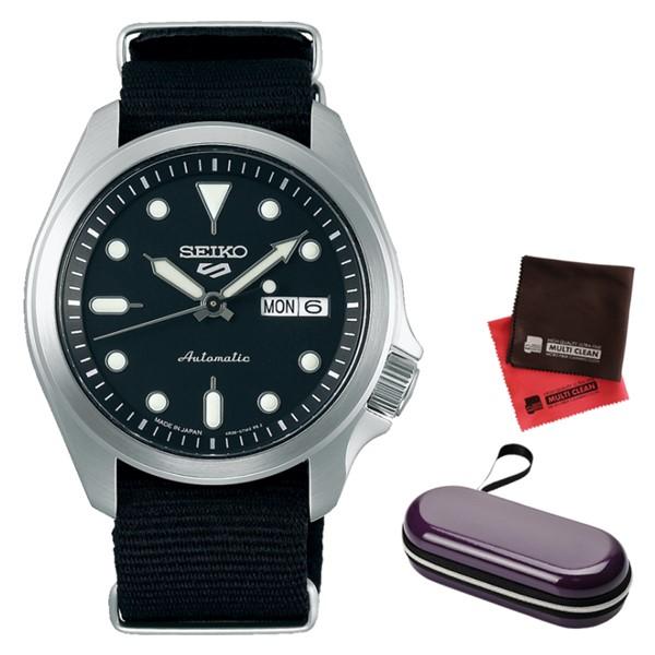 (時計ケース・クロスセット)(セイコー)SEIKO 腕時計 SBSA057 (5スポーツ)SEIKO 5 SPORTS メンズ メカニカル Sports ソリッドボーイ 流通限定モデル ナイロンバンド 自動巻き(手巻付) アナログ(国内正規品)