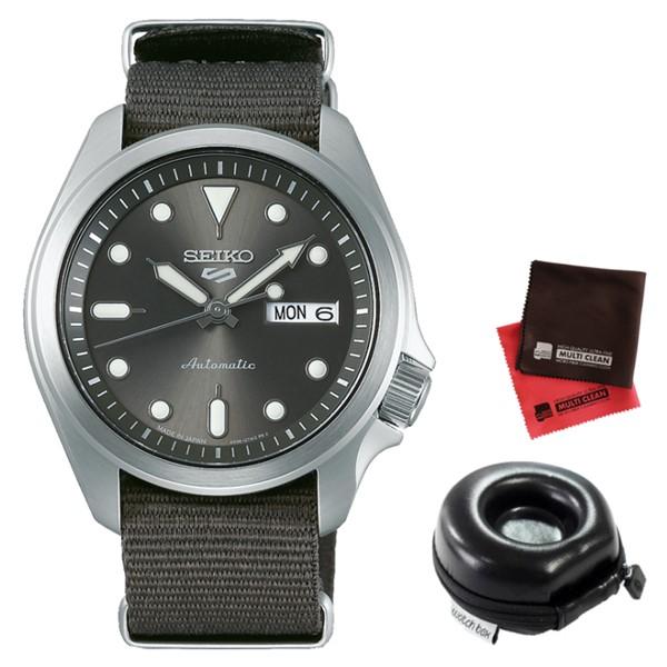 (時計ケース丸型・クロスセット)(セイコー)SEIKO 腕時計 SBSA051 (5スポーツ)SEIKO 5 SPORTS メンズ メカニカル Sports ソリッドボーイ 流通限定モデル ナイロンバンド 自動巻き(手巻付) アナログ(国内正規品)