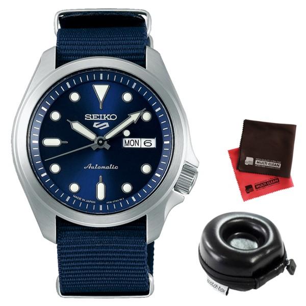 (時計ケース丸型・クロスセット)(セイコー)SEIKO 腕時計 SBSA053 (5スポーツ)SEIKO 5 SPORTS メンズ メカニカル Sports ソリッドボーイ 流通限定モデル ナイロンバンド 自動巻き(手巻付) アナログ(国内正規品)
