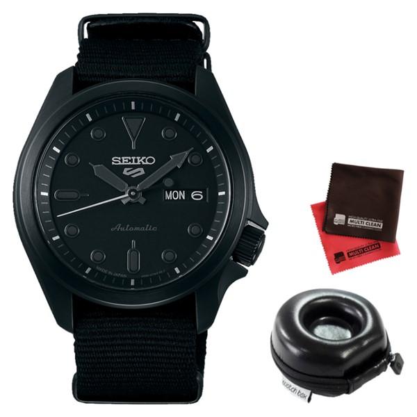 (時計ケース丸型・クロスセット)(セイコー)SEIKO 腕時計 SBSA059 (5スポーツ)SEIKO 5 SPORTS メンズ メカニカル Sports ソリッドボーイ 流通限定モデル ナイロンバンド 自動巻き(手巻付) アナログ(国内正規品)