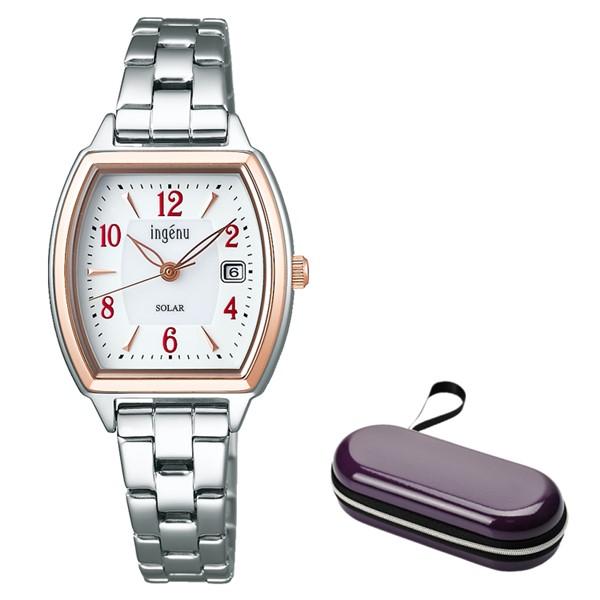 (時計ケースセット)(セイコー)SEIKO 腕時計 AHJD411 (アルバ アンジェーヌ)ALBA ingenu レディース ステンレスバンド ソーラー アナログ(国内正規品)