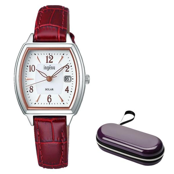 (時計ケースセット)(セイコー)SEIKO 腕時計 AHJD413 (アルバ アンジェーヌ)ALBA ingenu レディース 牛革バンド ソーラー アナログ(国内正規品)