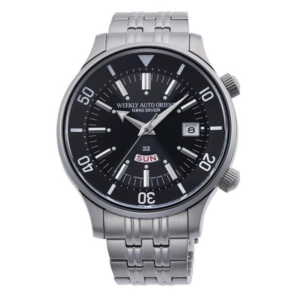 オリエント ORIENT 腕時計 RN-AA0D01B リバイバル REVIVAL メンズ キングダイバー復刻 70周年記念 限定モデル 英語曜車 ステンレスバンド 自動巻き(手巻付) アナログ(国内正規品)