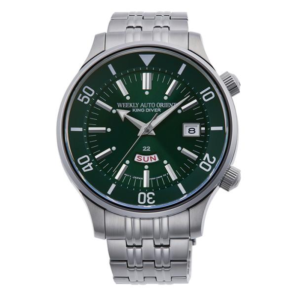 オリエント ORIENT 腕時計 RN-AA0D03E リバイバル REVIVAL メンズ キングダイバー復刻 70周年記念 限定モデル 英語曜車 ステンレスバンド 自動巻き(手巻付) アナログ(国内正規品)