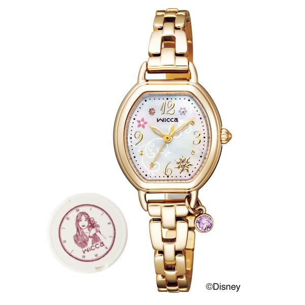 (wiccaコンパクトミラー付きセット)(シチズン)CITIZEN 腕時計 KP2-523-91 (ウィッカ)wicca レディース Disneyコレクション 塔の上のラプンツェル ソーラー アナログ KP252391(国内正規品) itabamoe