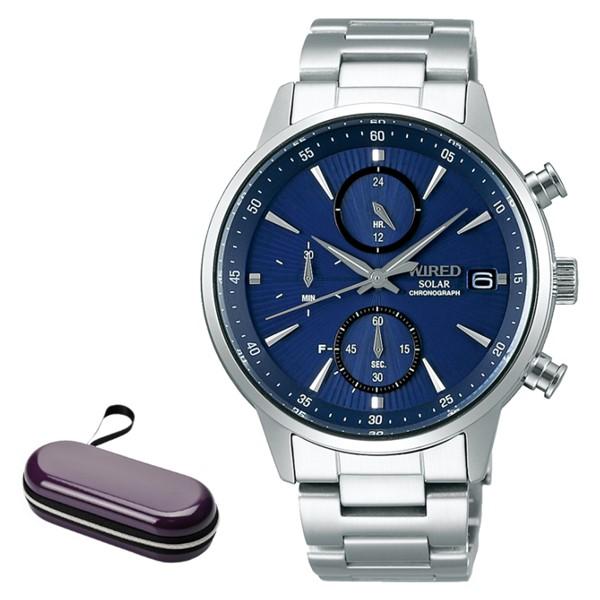 (時計ケースセット)セイコー SEIKO 腕時計 AGAD407 ワイアード WIRED メンズ NEW STANDARD ソーラー ステンレスバンド 多針アナログ(国内正規品)(7月新商品)