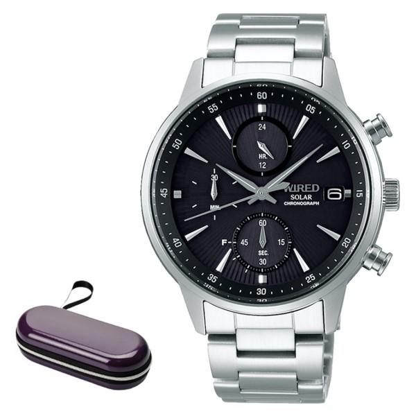 (時計ケースセット)セイコー SEIKO 腕時計 AGAD408 ワイアード WIRED メンズ NEW STANDARD ソーラー ステンレスバンド 多針アナログ(国内正規品)(7月新商品)