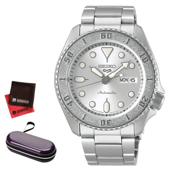 (7月24日発売予定)(時計ケース・クロスセット)セイコー SEIKO 腕時計 SBSA063 5スポーツ SEIKO 5 SPORTS メンズ Conceptual Boy Street Style 自動巻き(手巻付) ステンレスバンド アナログ(国内正規品)(7月新商品)