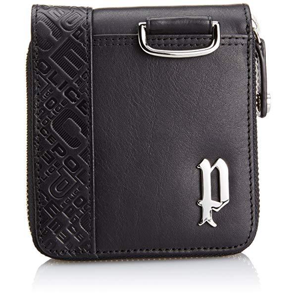 POLICE(ポリス) CIRCUIT 二つ折り財布 PA56102-10(ブラック)【正規輸入品】 '【メンズ小物】