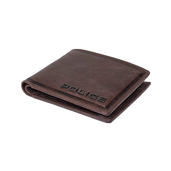 POLICE(ポリス) EDGE 二つ折り財布 PA-58000-29(ダークブラウン)【正規輸入品】 '【メンズ小物】