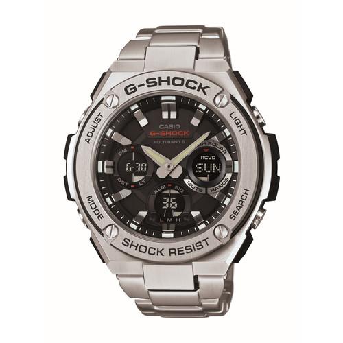 CASIO[カシオ]【腕時計】 G-SHOCK[Gショック] GST-W110D-1AJF[GSTW110D1AJF] 【マルチバンド6 タフソーラー Gスチール メンズ アナデジ ソーラー電波時計 ステンレスバンド】