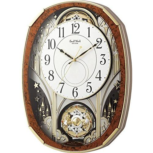 リズム時計 電波からくり時計 からくり・アミューズ スモールワールドノエルM 4MN513RH23(ラッピング不可)