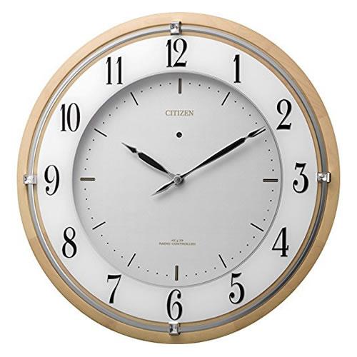リズム時計 CITIZEN(シチズン)ソーラー電源電波掛時計 サイレントソーラーM837 4MY837-006