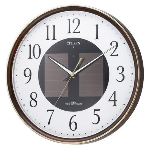 リズム時計 CITIZEN(シチズン)ソーラー電源電波時計 エコライフM807 4MY807-023