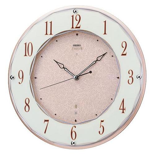 セイコークロック (SEIKO) 【電波掛時計】 EMBLEM(エムブレム) HS524A(ピンク)【代引き手数料・送料無料】