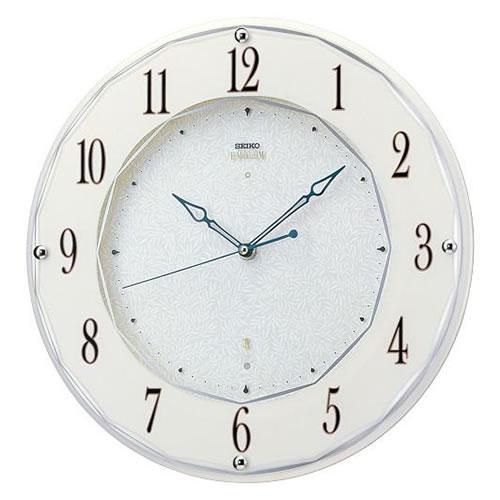 セイコークロック (SEIKO) 【電波掛時計】 EMBLEM(エムブレム) HS524W(ホワイト)【代引き手数料・送料無料】