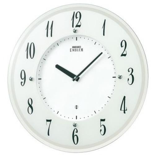 (SEIKO) HS533W(ホワイト)【代引き手数料・送料無料】 【ソーラープラス電波掛時計】 EMBLEM(エムブレム) セイコークロック