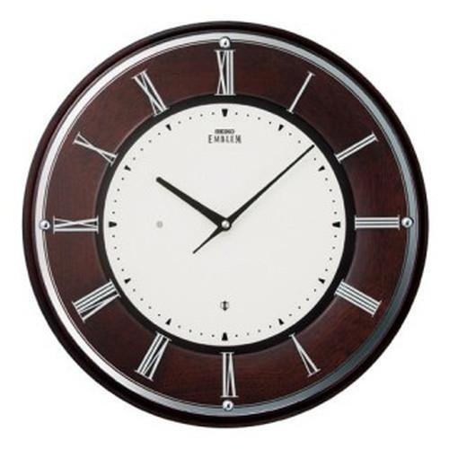 セイコークロック (SEIKO) 【電波掛時計】 EMBLEM(エムブレム) HS540B(薄型/木枠)【代引き手数料・送料無料】