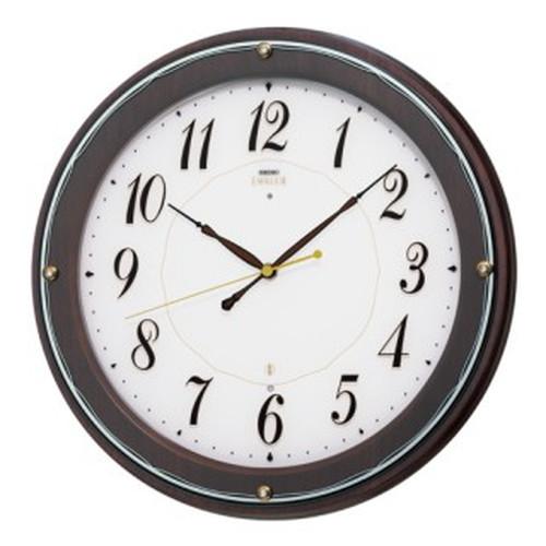 セイコークロック (SEIKO) 【電波掛時計】 EMBLEM(エムブレム) HS545B(木枠)【代引き手数料・送料無料】