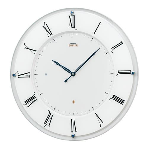 セイコークロック (SEIKO) 【電波掛時計】 EMBLEM(エムブレム) HS548W 薄型(ホワイト)