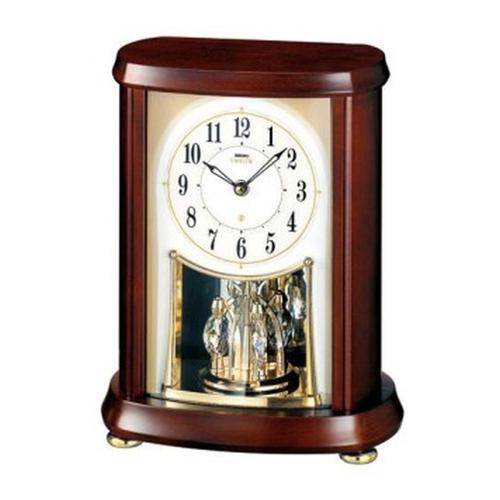 セイコークロック (SEIKO) 【電波置時計】 EMBLEM(エムブレム)HW566B (木枠)