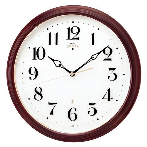 SEIKO(セイコー)EMBLEM(エムブレム)セイコークロック 【電波掛時計】 HS553B【代引き手数料・送料無料】
