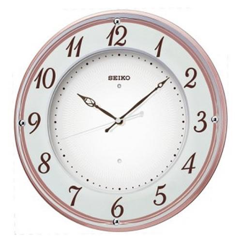 セイコークロック (SEIKO) 【電波掛時計】 X372P(ピンク)【代引き手数料・送料無料】