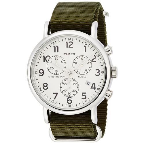TIMEX(タイメックス)【正規輸入品】【腕時計】Weekender Chrono(ウィークエンダー クロノグラフ) TW2P71400 クリーム/オリーブナイロンバンド【メンズ】【代引き手数料・送料無料】