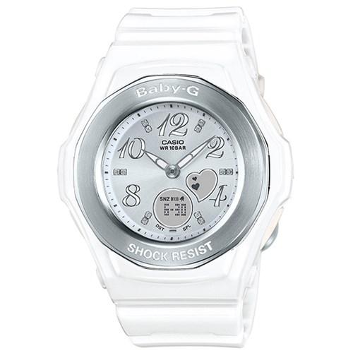 【国内正規品】 CASIO(カシオ) 【腕時計】 BGA-100-7B3JF BABY-G[ベビーG] [BGA1007B3JF] 【BGA-100-7BJF の後継モデル】【ホワイト ハート】【クオーツ アナデジ 樹脂バンド】