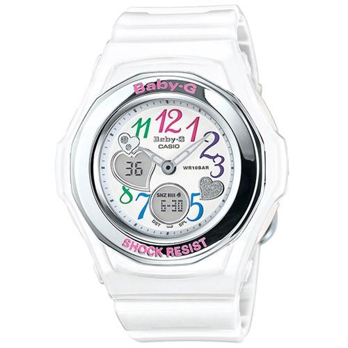 【国内正規品】 CASIO(カシオ) 【腕時計】 BGA-101-7B2JF BABY-G[ベビーG] [BGA1017B2JF] 【BGA-101-7BJF の後継モデル】【ホワイト ハート】【クオーツ アナデジ 樹脂バンド】
