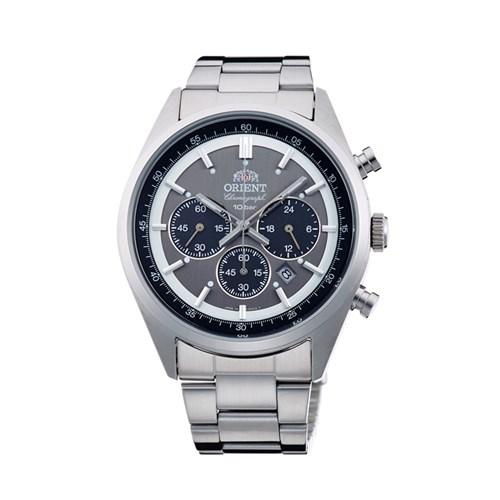 【国内正規品】 ORIENT(オリエント) 【腕時計】 Neo70's[ネオセブンティーズ] WV0011TX 【ダークグレー ソーラー ステンレスバンド 多針アナログ クロノグラフ メンズ】 【代引き手数料・送料無料】