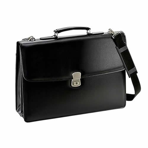 【国産】【B4ファイル対応】G-GUSTO 合皮カブセクラッチ 2室式ビジネスバッグ(黒) 23472/01【ブリーフケース】【平野鞄】【ラッピング不可】