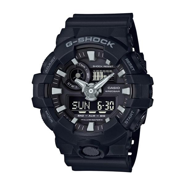 【国内正規品】 CASIO(カシオ) 【腕時計】 GA-700-1BJF G-SHOCK[Gショック] [GA7001BJF]【クオーツ 樹脂バンド アナデジ メンズ】【ブラック】
