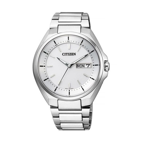 【国内正規品】 CITIZEN(シチズン) 【腕時計】 AT6050-54A ATTESA [アテッサ] [AT605054A]【エコ・ドライブ電波時計 チタンバンド アナログ ホワイトメンズ】
