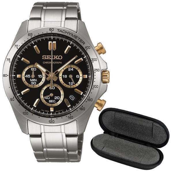 【国内正規品】【1本用ケースセット】SEIKO(セイコー)【腕時計】 SBTR015 SEIKO SELECTION[セイコーセレクション]【クロノグラフ】&1本用時計ケースwatch-case003