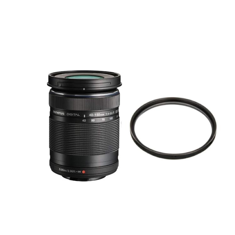 【レンズ保護フィルター付】 オリンパス 望遠ズームレンズ M.ZUIKO DIGITAL ED 40-150mm F4.0-5.6 R ブラック 【マイクロフォーサーズ用】