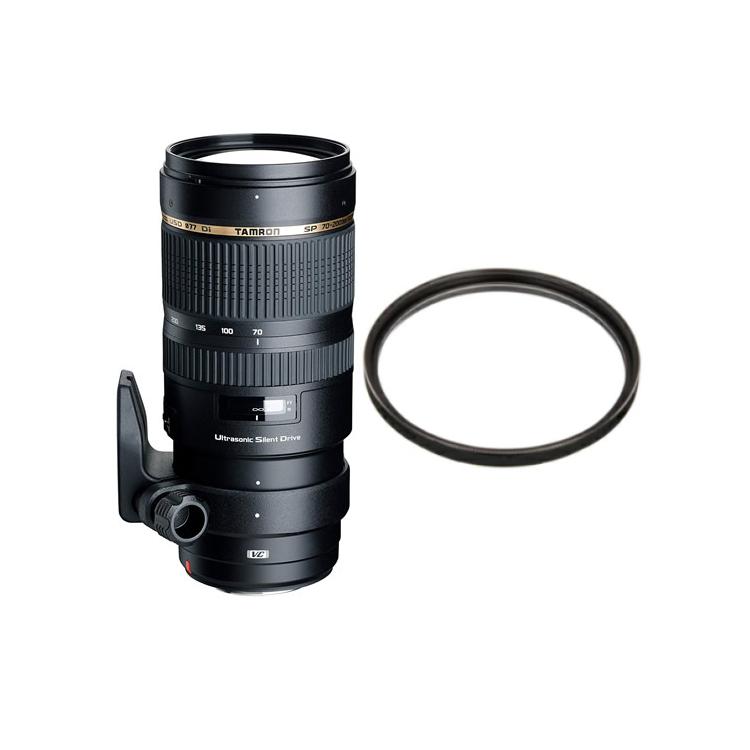 タムロン SP 70-200mm F/2.8 Di VC USD キヤノン用 Model:A009E 大口径望遠ズームレンズ (レンズ保護フィルター付!)