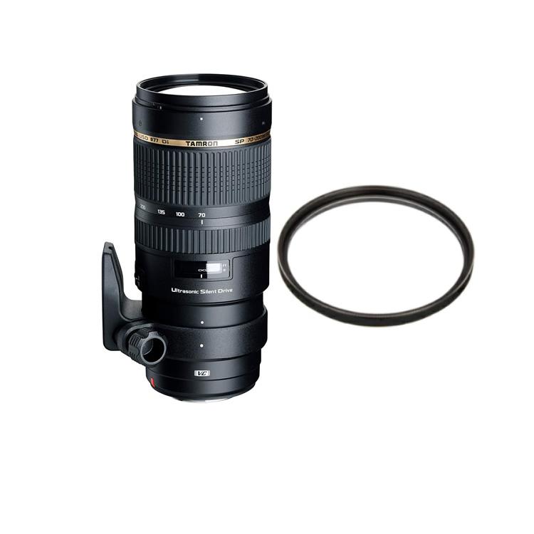 タムロン SP 70-200mm F/2.8 Di VC USD ニコン用 (モーター内蔵) Model:A009N 大口径望遠ズームレンズ (レンズ保護フィルター付)